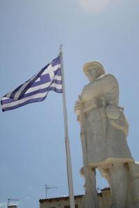 Estatua de Soldado en Creta