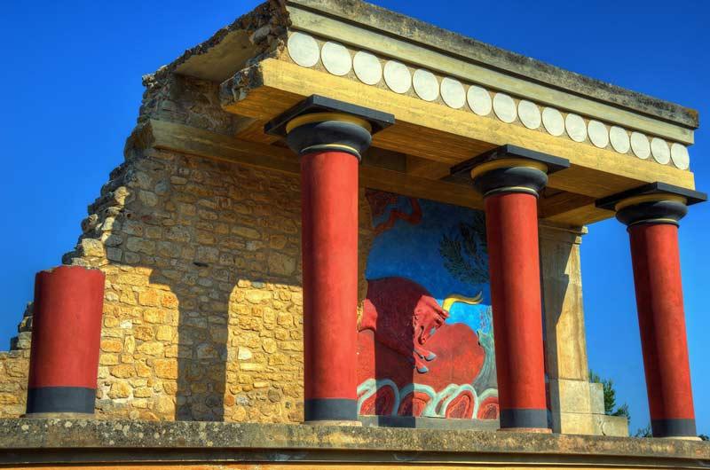 Palacio de Knossos, en Creta