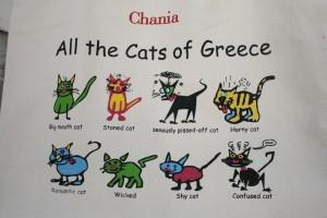 Camiseta de los gatos de Creta