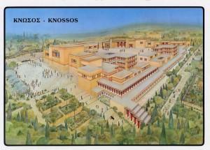 Reproducción del palacio minoico de Knossos