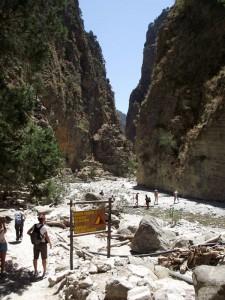 """Las """"Puertas de Hierro"""", la parte más estrecha de la Garganta de Samaria"""