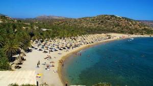 Playa de Vai, en Creta