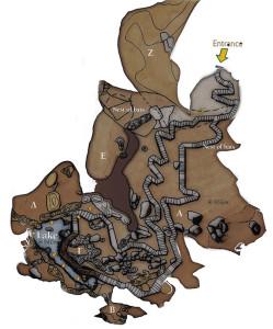 Mapa de la cueva de Dikteon