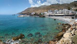 Playa Hora Sfakion de Creta