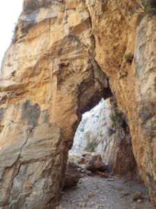 Arco Xepitira, en la Garganta de Imbros
